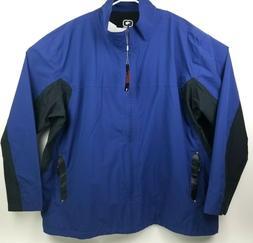 Ogio Men 4XL Full Zip Windbreaker Rain Golf Jacket OG501 Blu