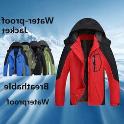 Men Autumn Warm Jacket Waterproof Camping Hiking Coat Rain F
