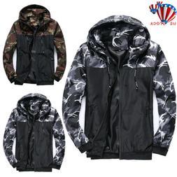 Men Jacket Windproof Waterproof Full Zipped Rain Outdoor Cam