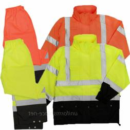 Men Rain Hooded Jacket Pant ML Kishigo Rainwear Waterproof S