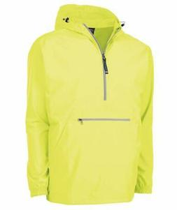 Charles River Apparel Men Rain Jacket Yellow Size 2XL Hooded