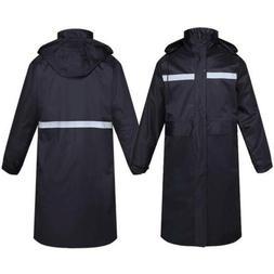 Men Reflective Safety Windproof Waterproof long Jacket Bicyc