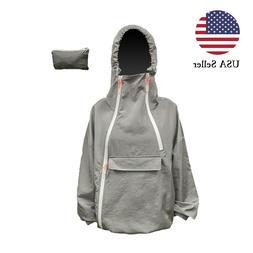 Men's 100% Waterproof Light Outdoor Windbreaker Hooded Jacke