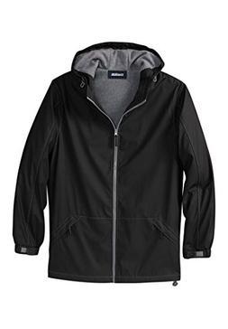 KingSize Men's Big & Tall Fleece-Lined Rain Coat, Black Big-