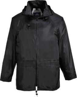 Portwest Men's Classic Rain Jacket 4XL Chest 56 - 58in - Bla