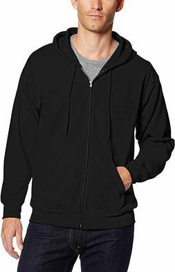 Hanes Men's Full-Zip Eco-Smart Fleece Hoodie, Black, 3XL