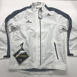 Adidas Men's Gore-Tex 2-Layer Full Zip Rain Jacket White L