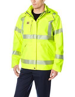 Carhartt Men's High Visibility Class 3 Waterproof Jacket,Bri