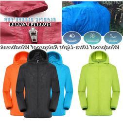 Men's Jacket Waterproof Hooded Outdoor Camping Windbreaker O