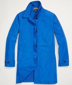 Jack Spade Men's L Packable Trench Coat Rain Jacket - Royal