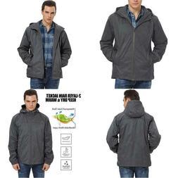 Ilovesia Men'S Lightweight Hooded Rain Jacket Outdoor Rainco