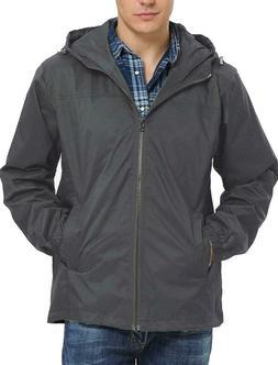 men s lightweight hooded rain jacket outdoor