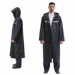 Men's Lightweight Long Waterproof Rain Coats/Windbreaker wit
