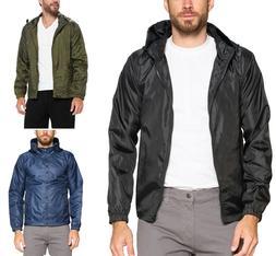men s lightweight rain water resistant hooded