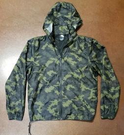 Nike Men's M Camouflage Full Zip Nylon Rain Jacket Hooded Ra