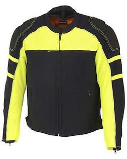 Milwaukee Leather Men's Mesh Racing Jacket With Removable Ra