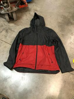 The North Face Men's Millerton Rain Jacket Black/Red XL
