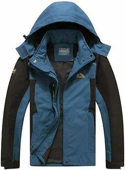 Spmor Men's Outdoor Sports Hooded Windproof Jacket Waterproo