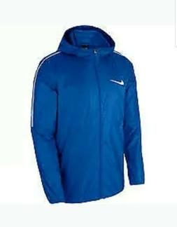 Men's Nike Park 18 Rain Wind Jacket w Hood Royal Small
