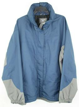 White Sierra Men's Rain Jacket - Blue/Gray - XL