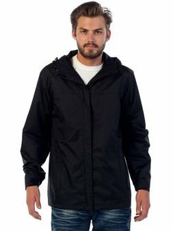 Men's Rain Jacket Waterproof Full Zip Hooded S Outdoor Light