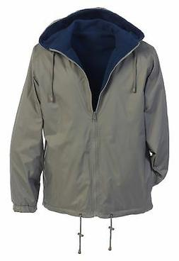 Gioberti Men's Reversible Rain Jacket with Polar Fleece Lini