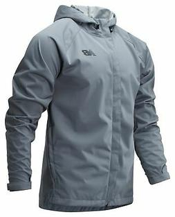 men s sport rain jacket grey