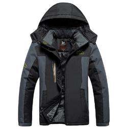 Men's Waterproof Fleece Mountain Jacket Ski Jacket Windproof