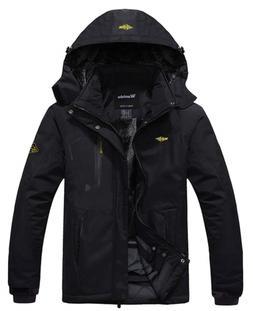 Wantdo Men's Waterproof Fleece Ski Jacket Windproof Rain Jac
