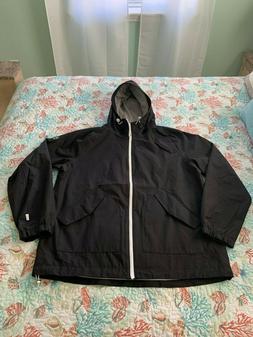 men s waterproof hooded rain jacket black