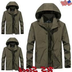 Men's Waterproof Hooded Winter Warm Jacket Breathable Outwea