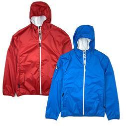 men s waterproof packable shell rain jacket