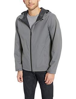 Amazon Essentials Men's Waterproof Rain Jacket, Dark Grey, S