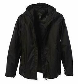 Gioberti Men's Waterproof Rain Jacket Large Black