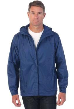 Gioberti Men's Waterproof Rain Jacket Navy X Large