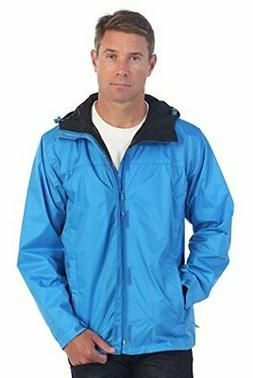 men s waterproof rain jacket turquoise xl