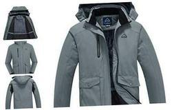 Men's Waterproof Ski Snowboard Fleece Jacket Snow Winter Coa
