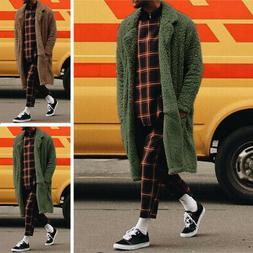 Men's Winter Fur Coats Long Sleeve Fluffy Coat Fleece Fur Ja