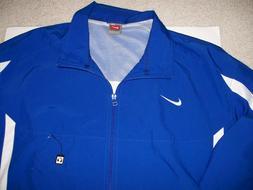 Nike Men Sz XL Warm Up Jacket Track Overtime Blue White Spri