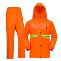 Men Women Rain Suit Reflective Safety Waterproof Full Body J