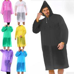 Men Women Waterproof Jacket PE Hooded Raincoat Rain Coat Pon