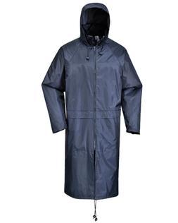 """Men Womens Rainwear 47"""" Long Waterproof Rain Jacket Coat Hoo"""