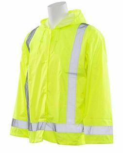 Men Womens Waterproof High Visibility Safety Reflective Rain