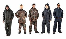 Mens boys waterproof outfits suits camo navy green fishing r
