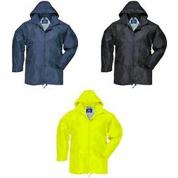 Portwest Mens Classic Casual Hooded Rain Zip up Jacket /Coat