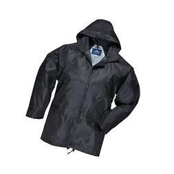 Portwest Mens Classic Rain Jacket  L  Black