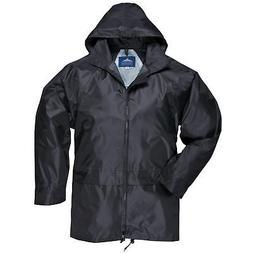 Portwest Mens Classic Rain Jacket  Black L  New