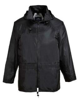 Portwest Mens Classic Rain Jacket , L , Black