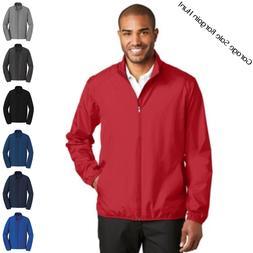 Mens Golf Rain Jacket Lightweight Full Zip Water Wind Resist