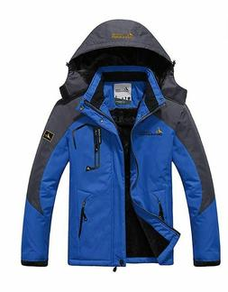 JINSHI Mens Mountain Waterproof Fleece Ski Jacket Windproof